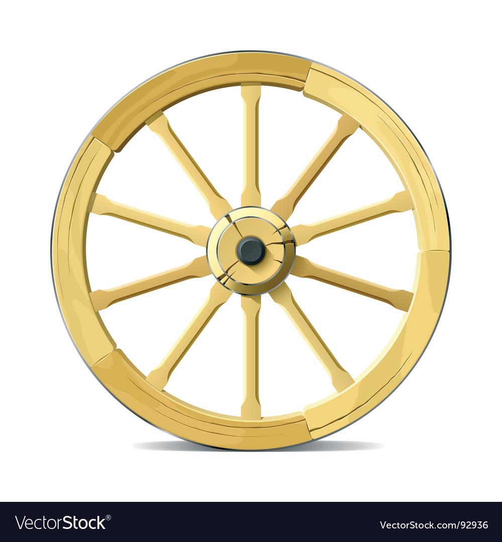 Wagon wheel vector image