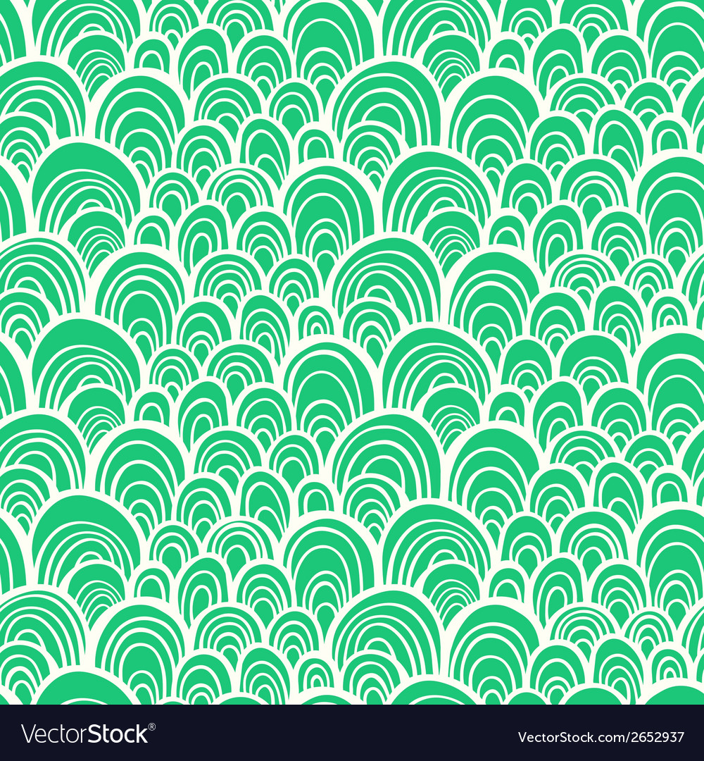 Seamless pattern with abstract stylized hand drawn vector image