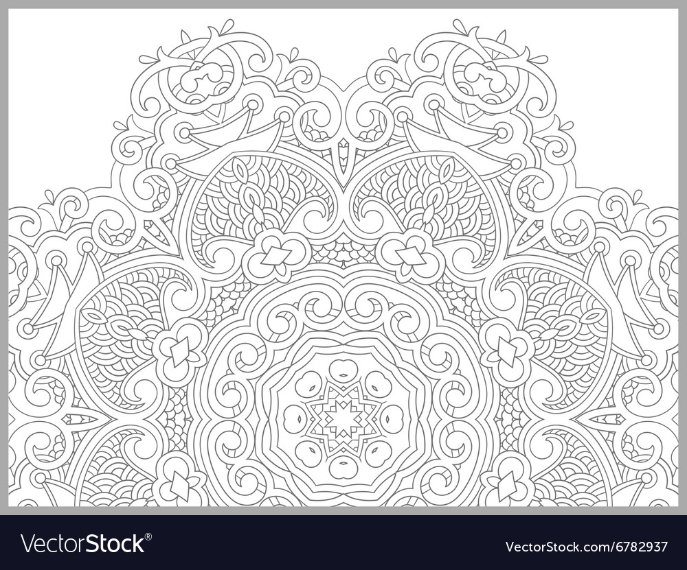 Unique coloring book page for adults flower vector image for Unique coloring pages for adults