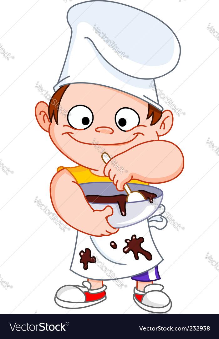 Chef boy vector image