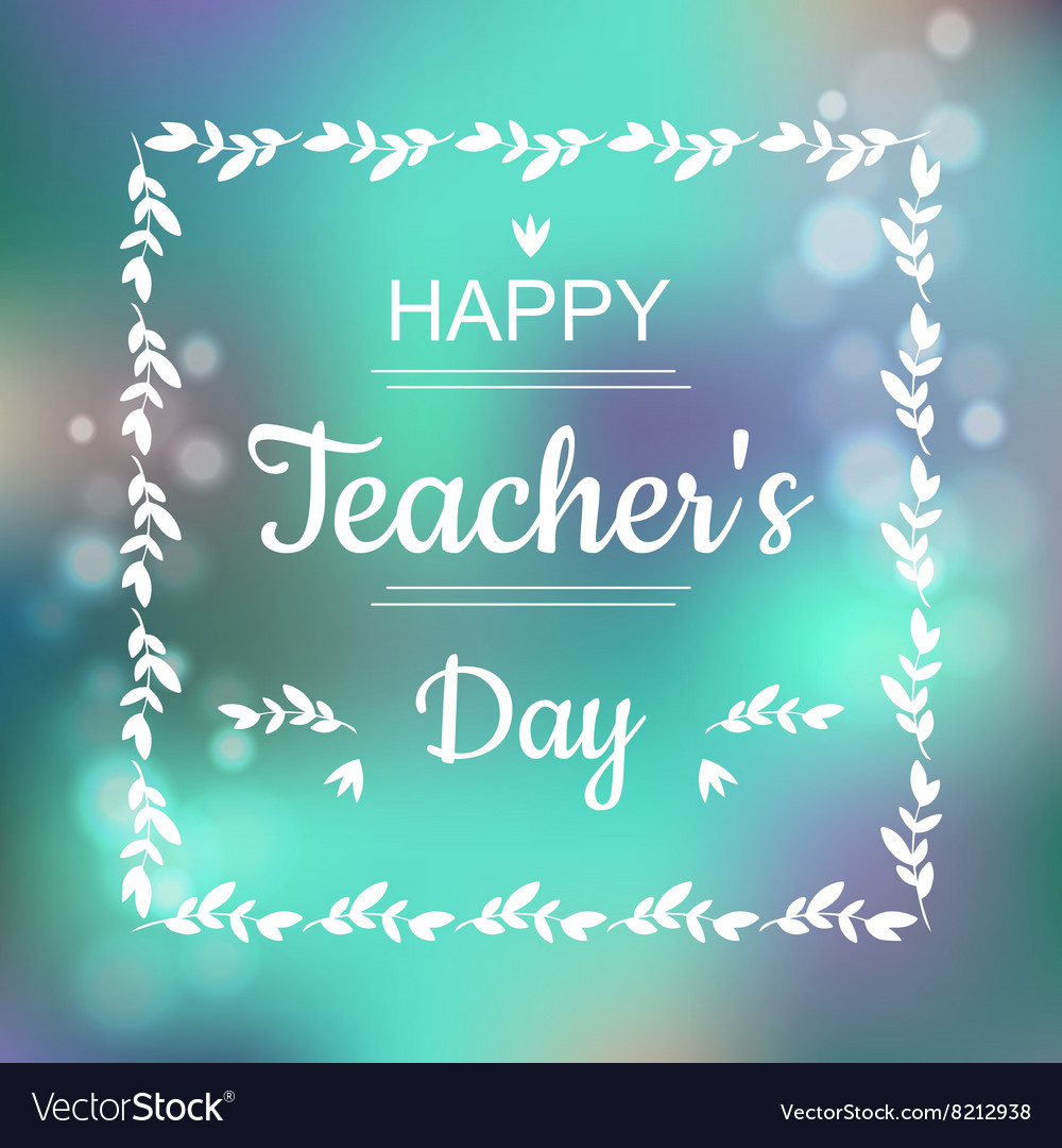 Greeting card for happy teachers day abstract vector image kristyandbryce Choice Image
