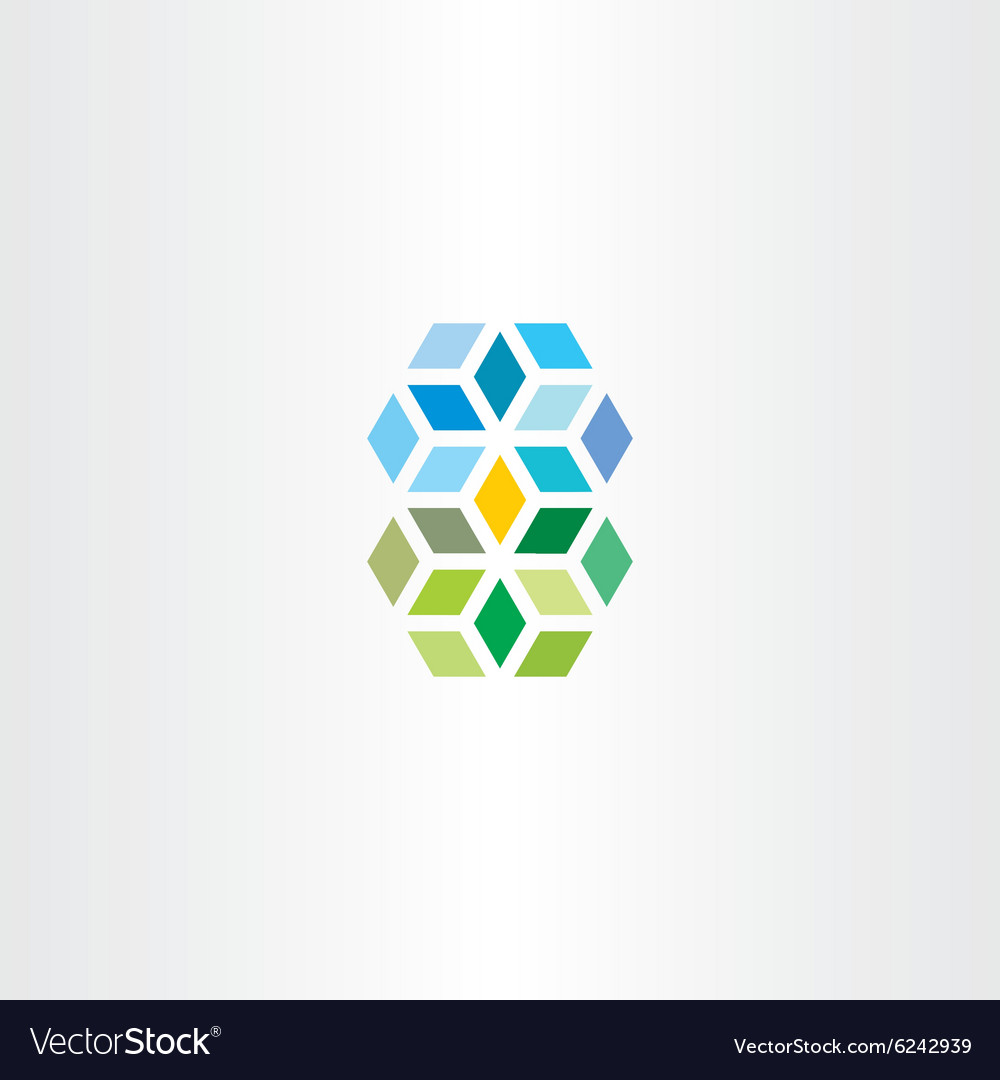 Geometric square cube abstract logo vector image