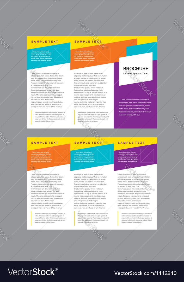 Brochure Tri-fold Layout Design Template Vector Image