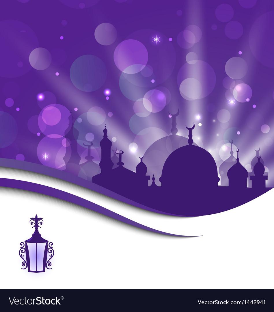 Forging lantern for Ramadan Kareem Vector Image