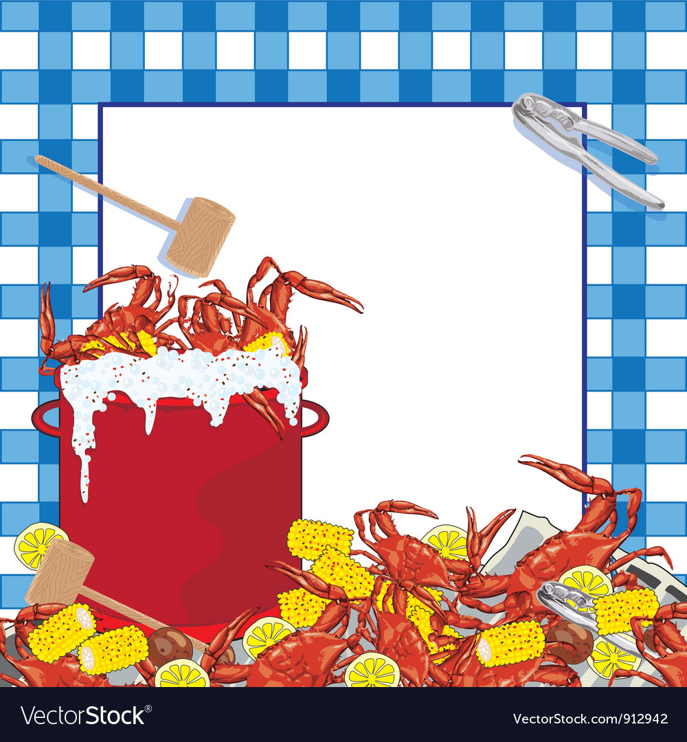 Crab Boil party invitation vector image