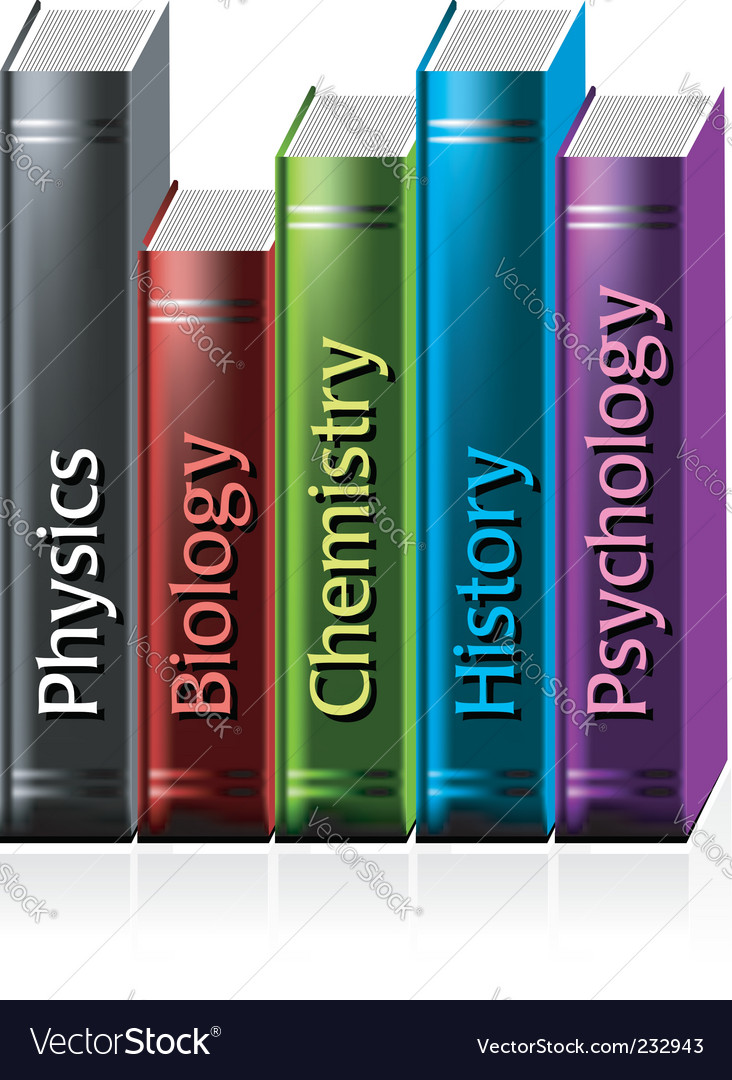 Colored books vector image