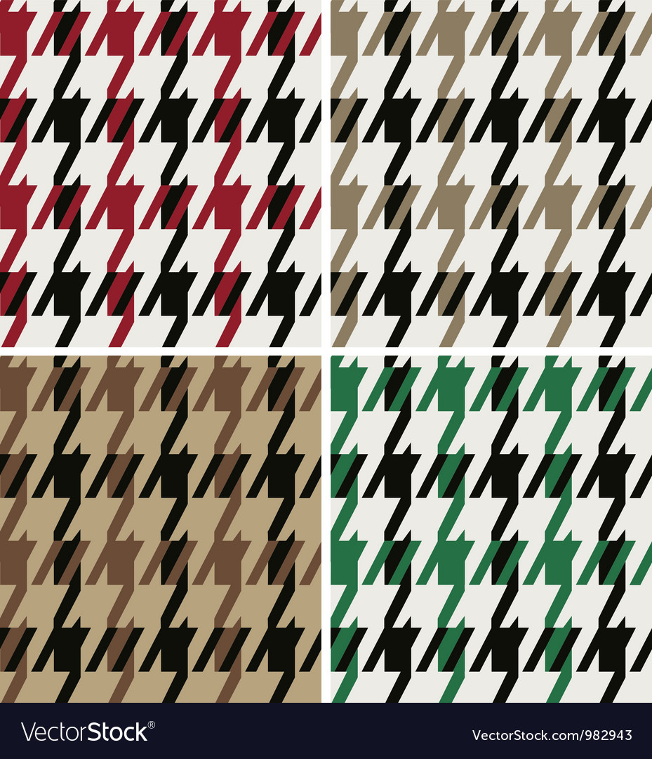 Abstract wool houndstooth fabric vector image