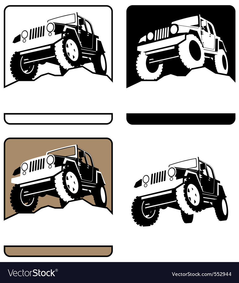 Offroad symbol vector image