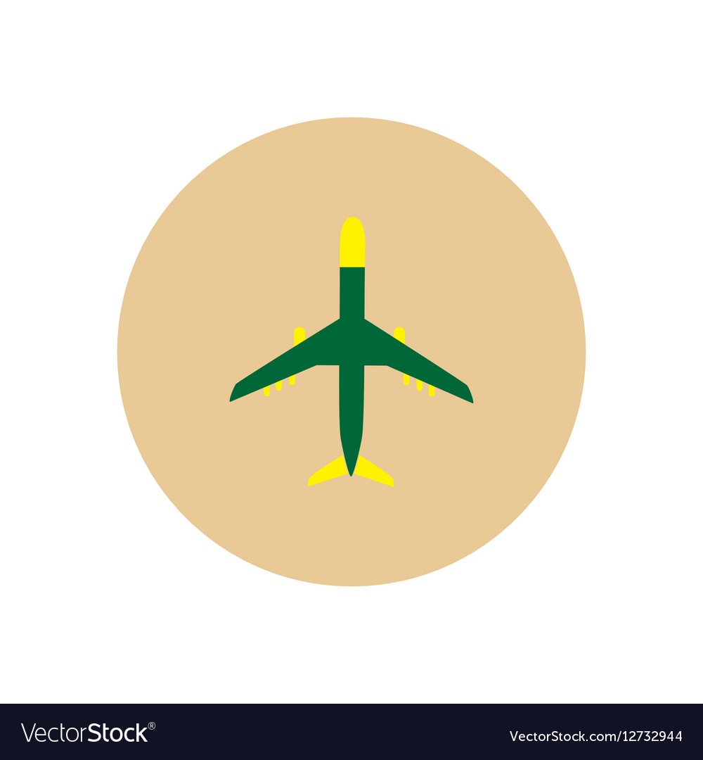 Stylish icon in color circle travel airplane