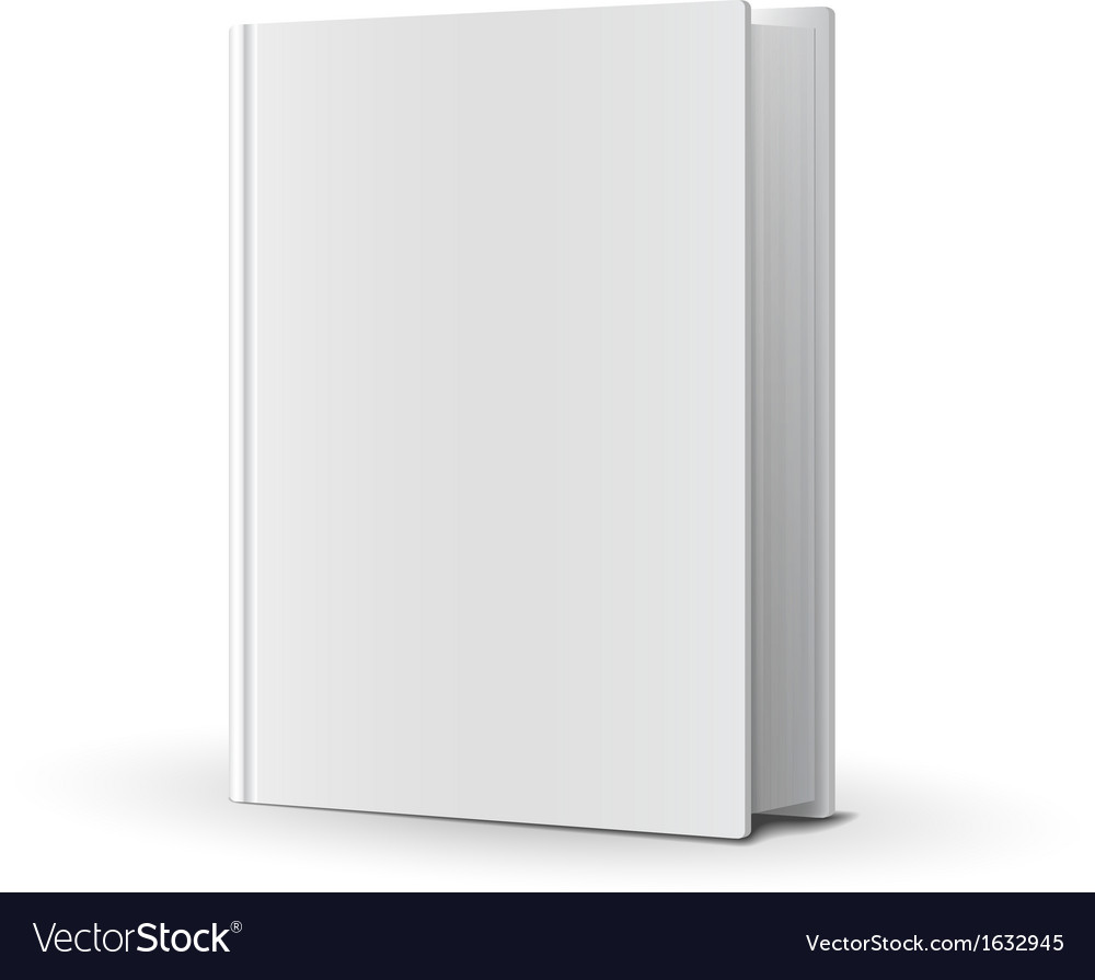 Blank book cover over white vector image