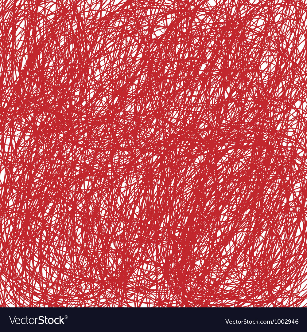 Red Christmas hand drawn background vector image