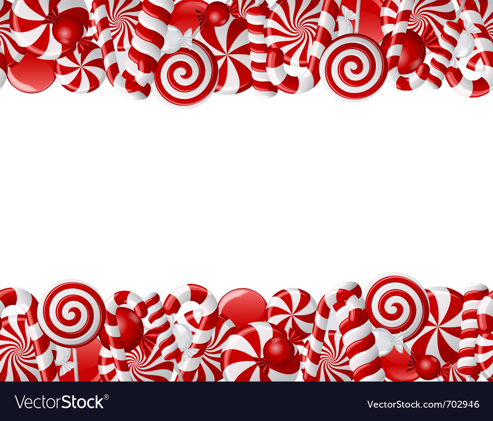 Frame candies vector image