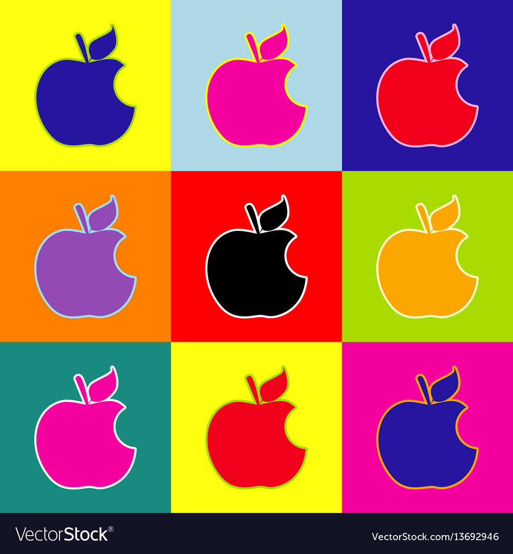 Bite apple sign pop art style colorful royalty free vector bite apple sign pop art style colorful vector image biocorpaavc Choice Image