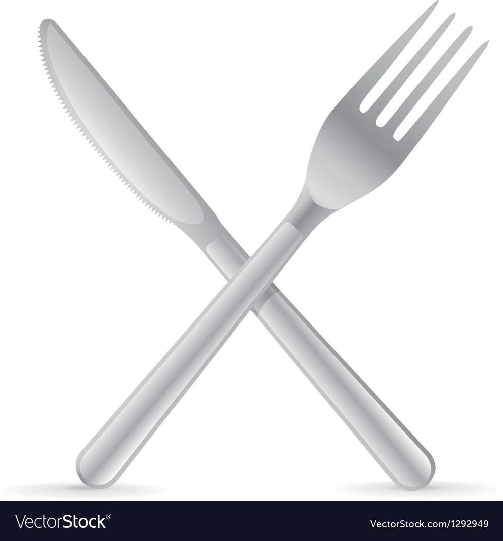 Cutlery crossing vector image