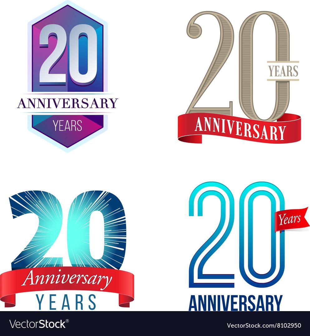 20 Years Anniversary Symbol vector image