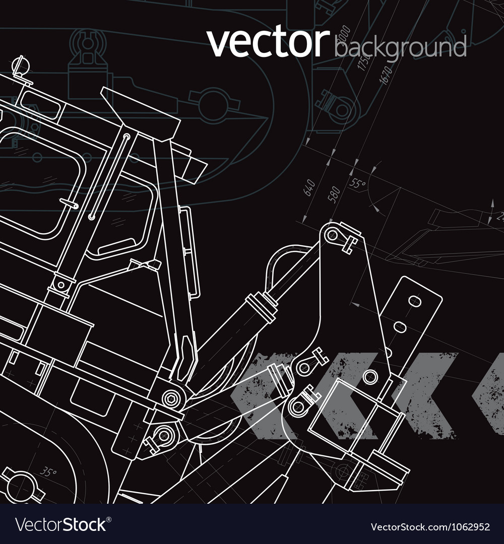 Technology background version 1 vector image