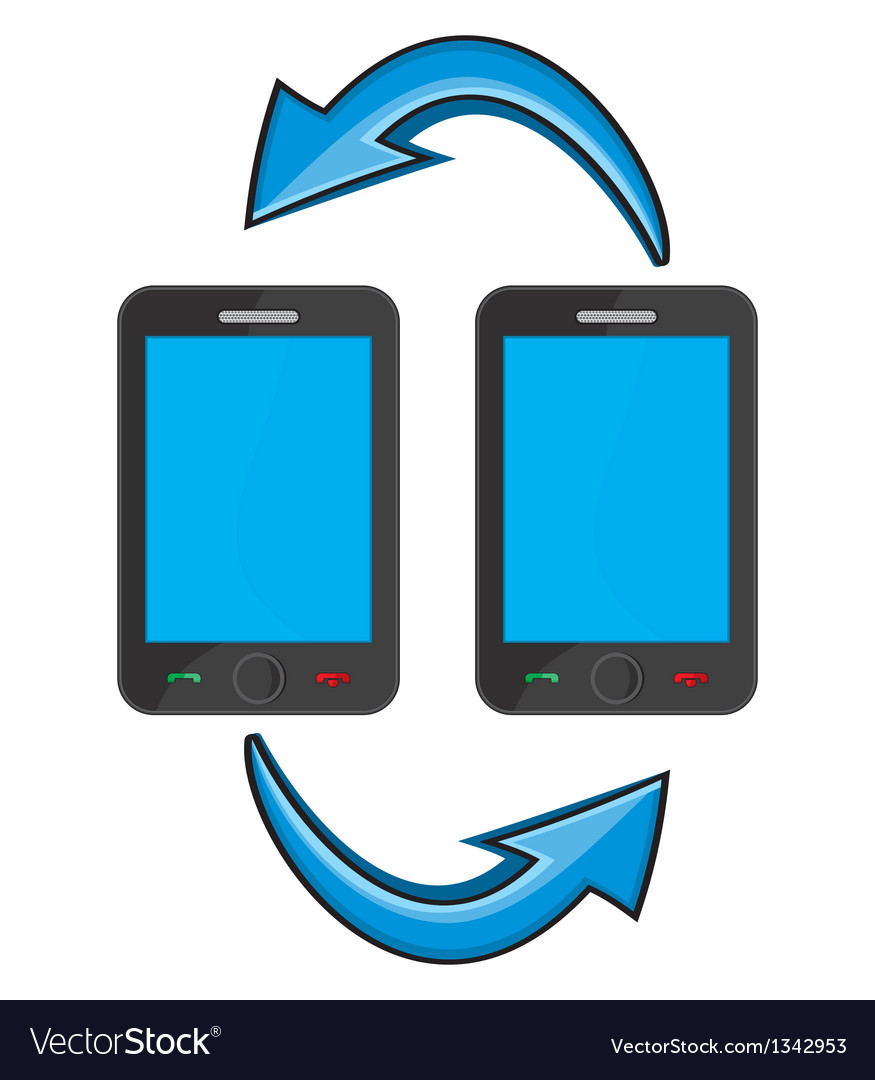 Smart phone communication vector image