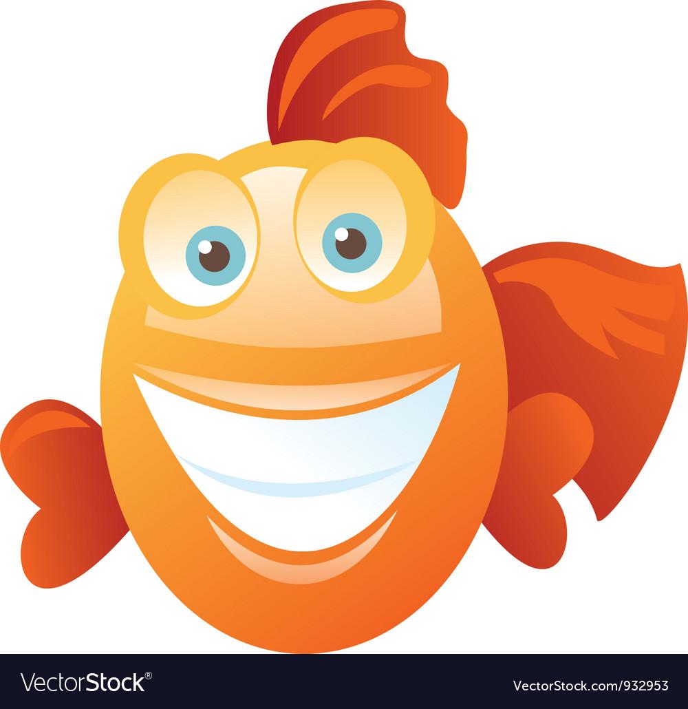 funny happy fish royalty free vector image vectorstock