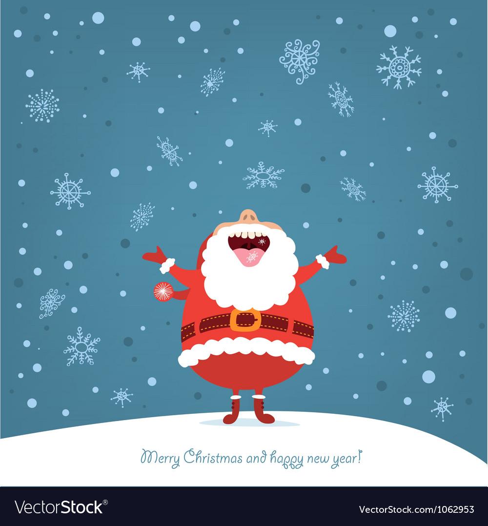 Funny Santa vector image