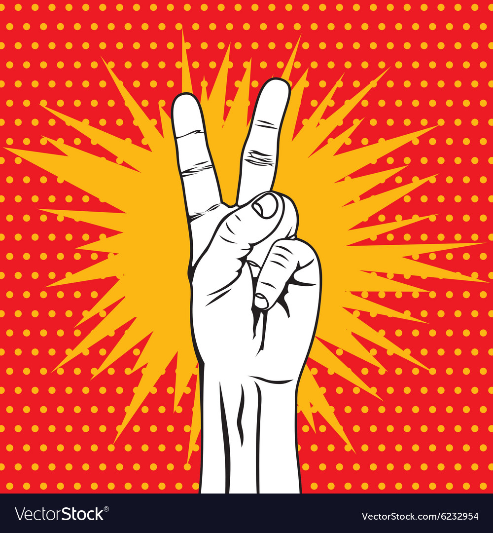 POPART FIST11 vector image