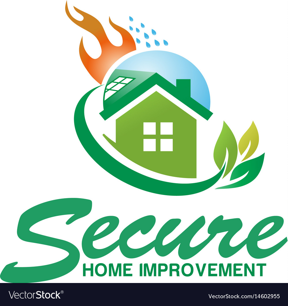 Secure house fire logo design vector image