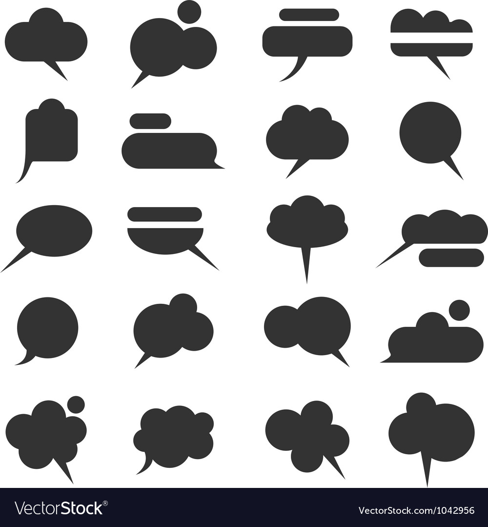 Black bubbles for speech vector image