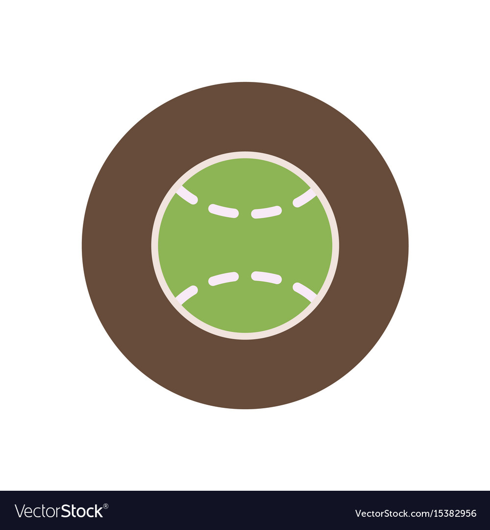 Stylish icon in color circle tennis ball