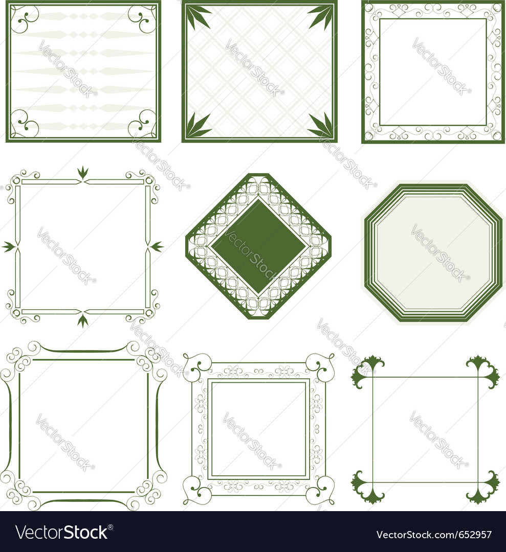Abstract vintage frames vector image
