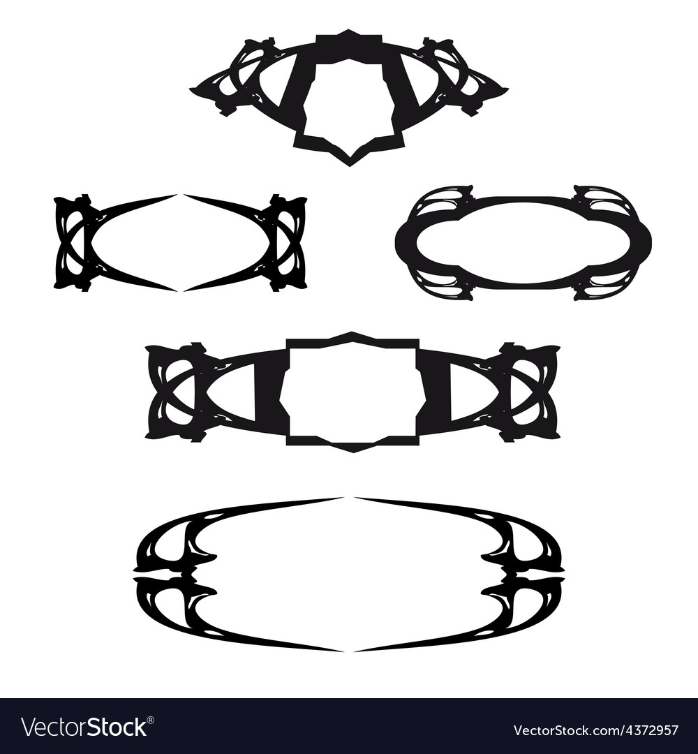 Art deco for calligraphic designs vector image