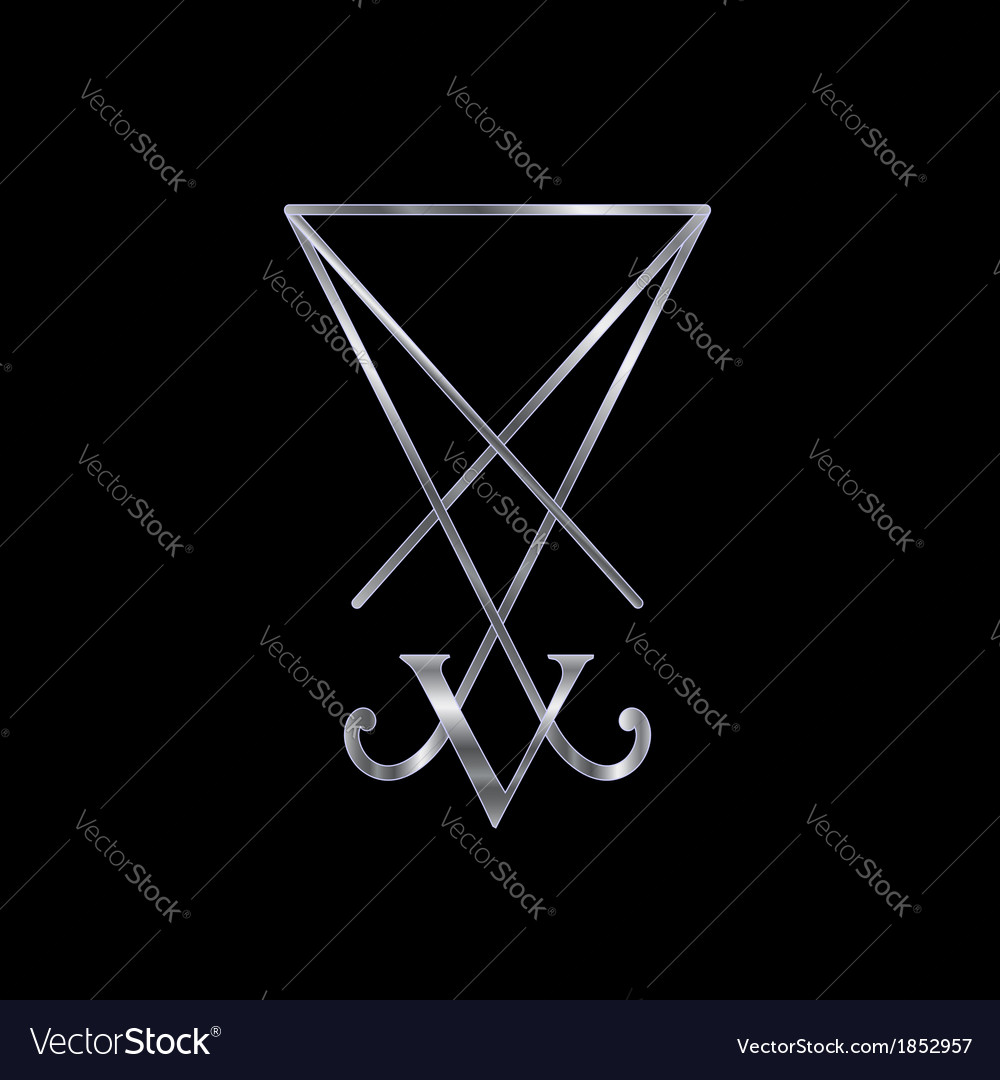 Sigil of Lucifer- A symbol of satanism vector image