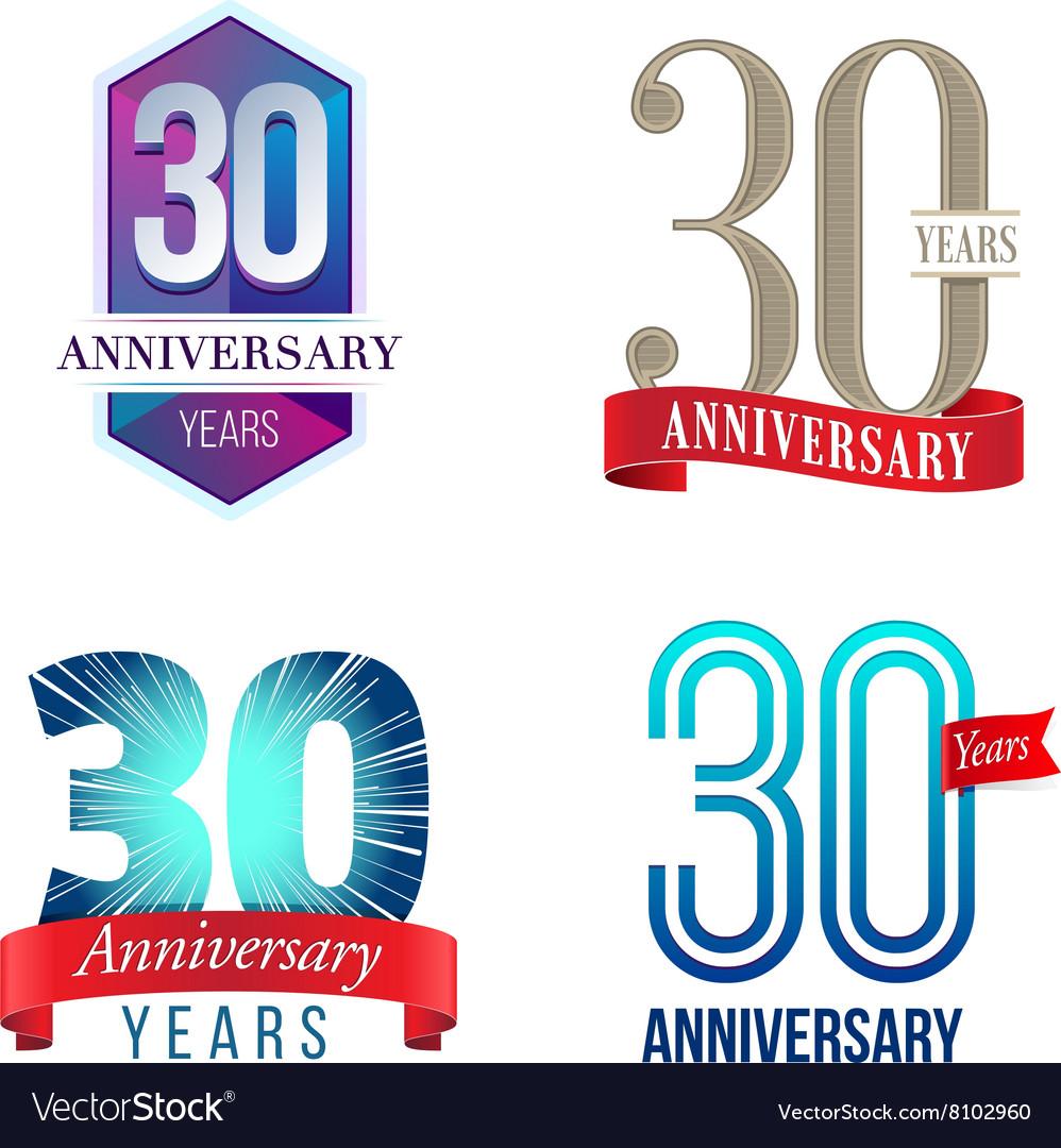 30 Year Anniversary Symbol