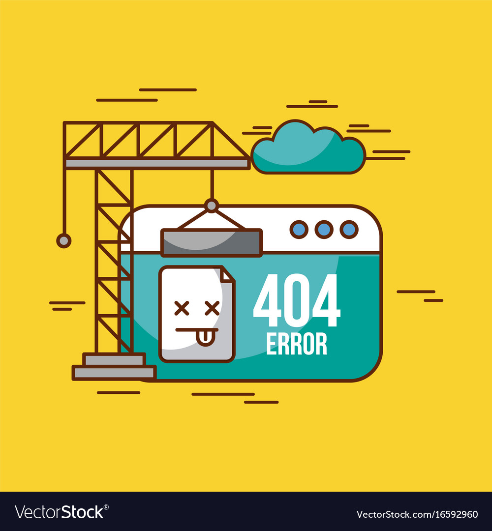 404 error background vector image