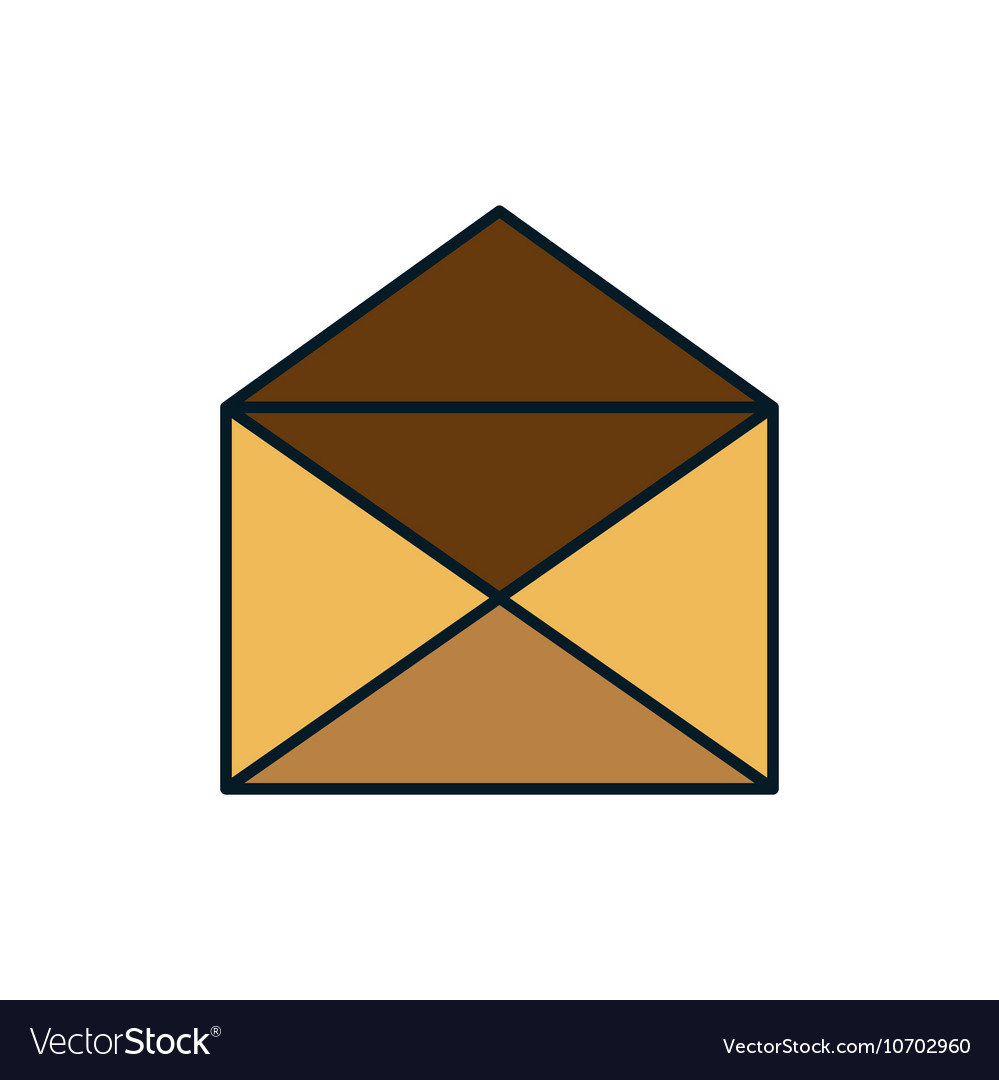 Icon email envelope message design vector image