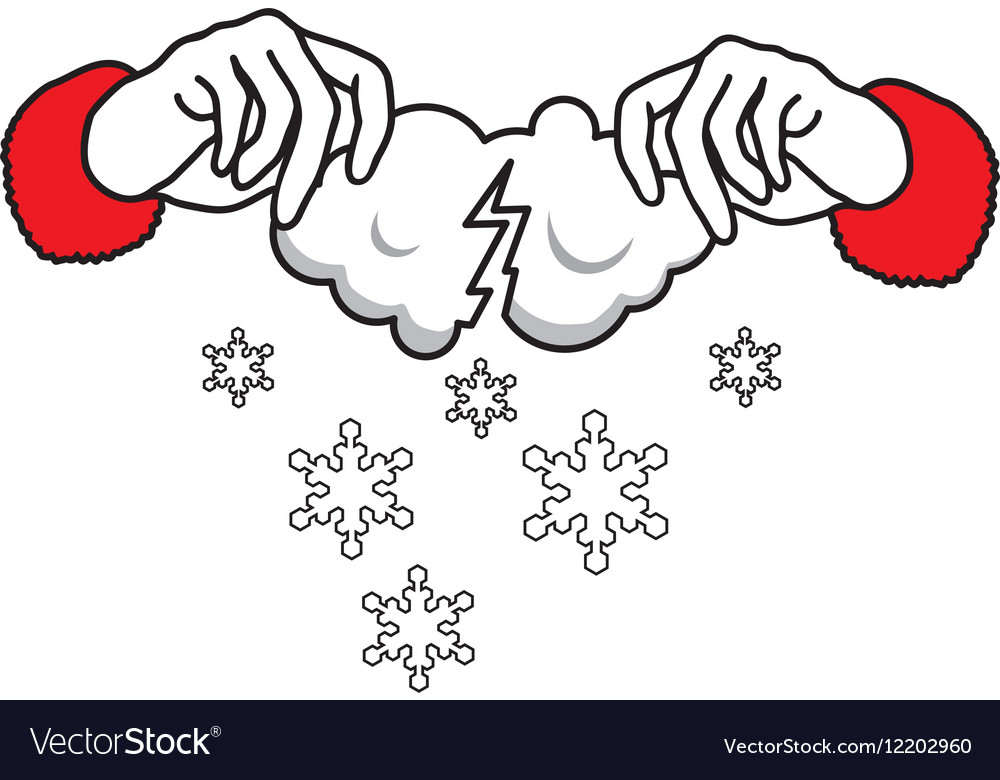 Where do snow come from vector image