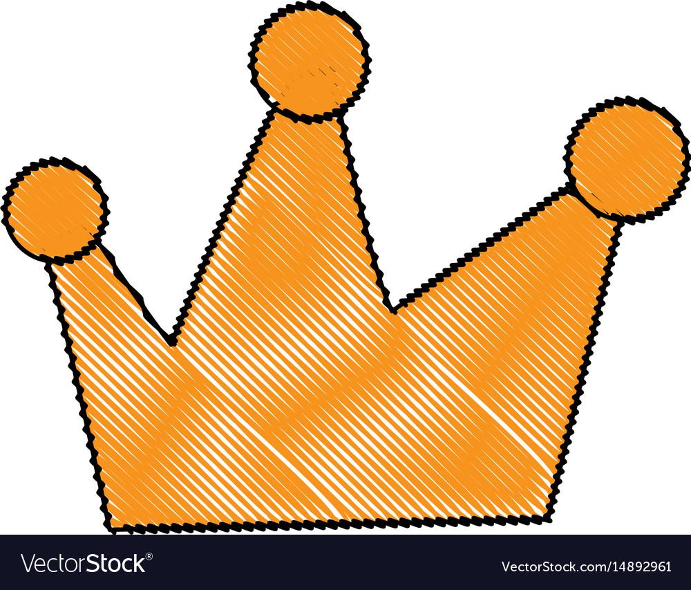 Cartoon crown royal fairy tale emblem vector image