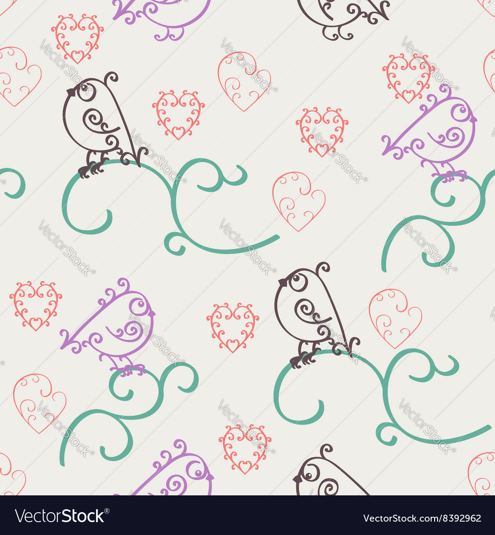Retro abstract valentine seamless pattern vector image