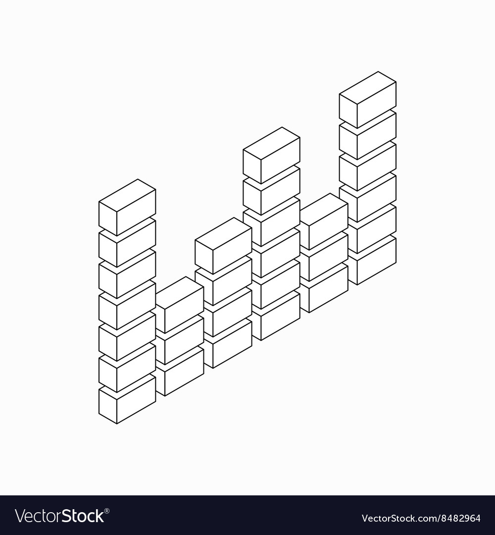 Digital equalizer icon isometric 3d style vector image