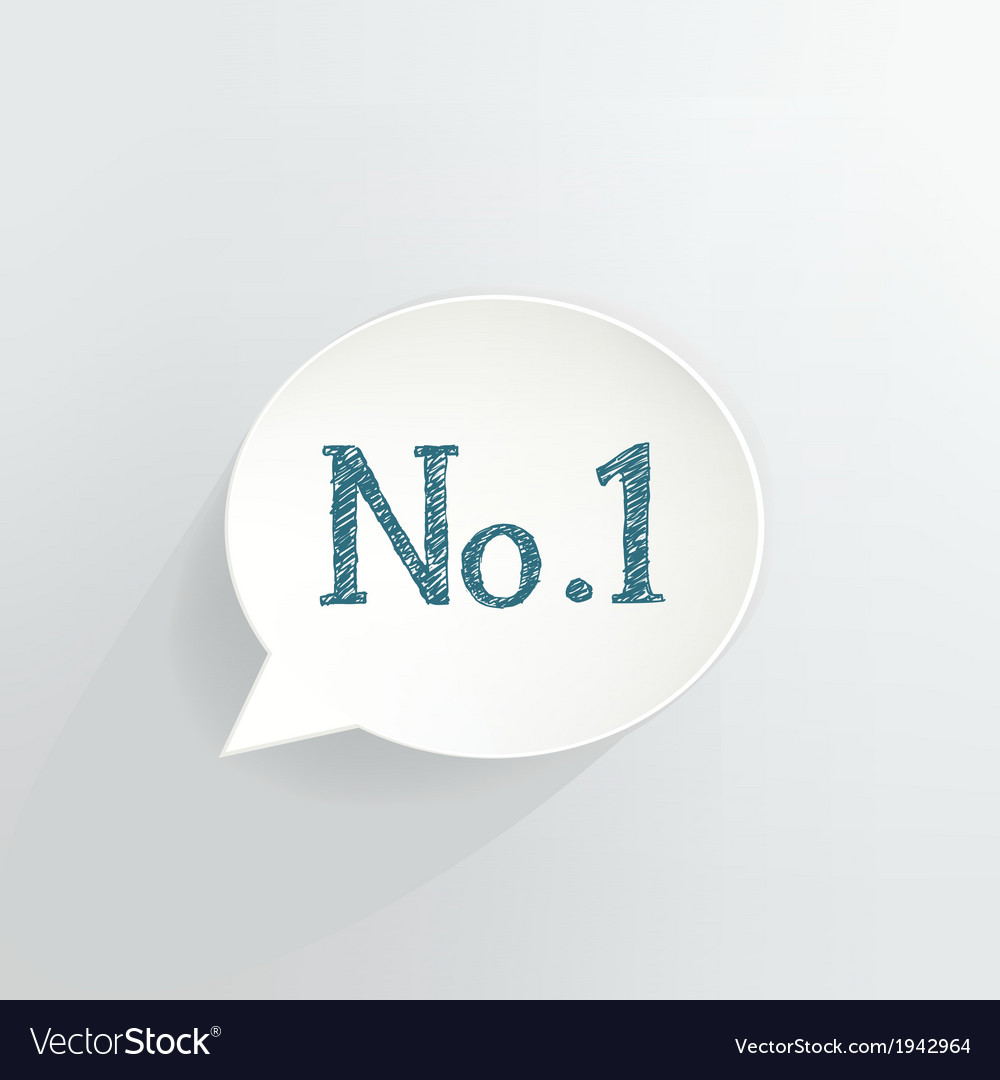 No1 vector image