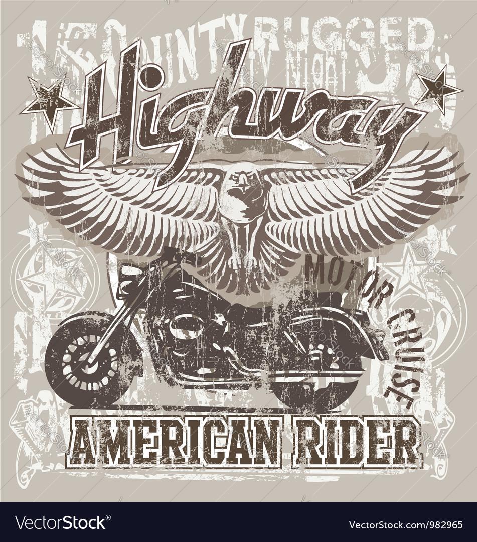 American highways rider vector image