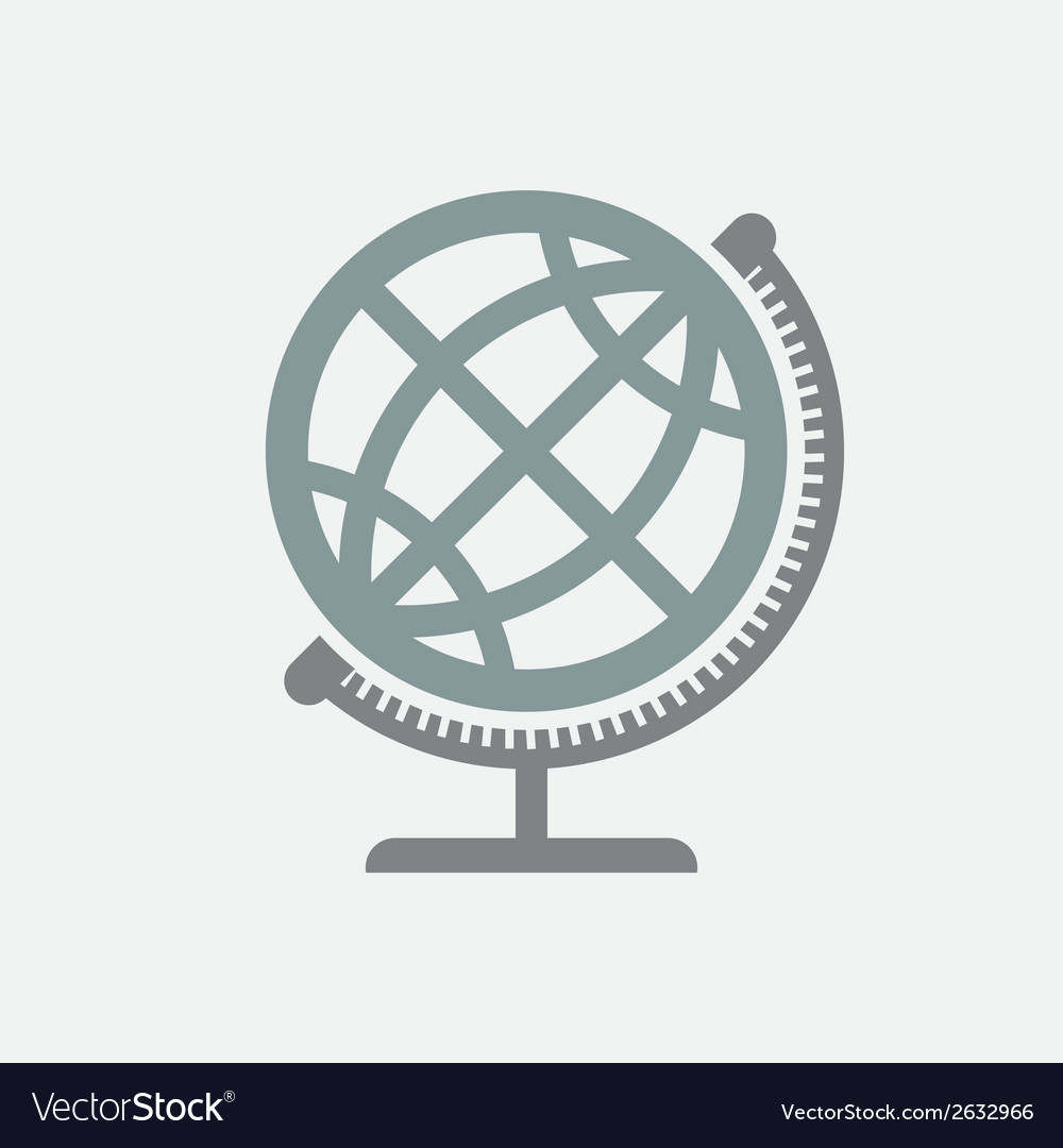 Geographical Globe Icon vector image