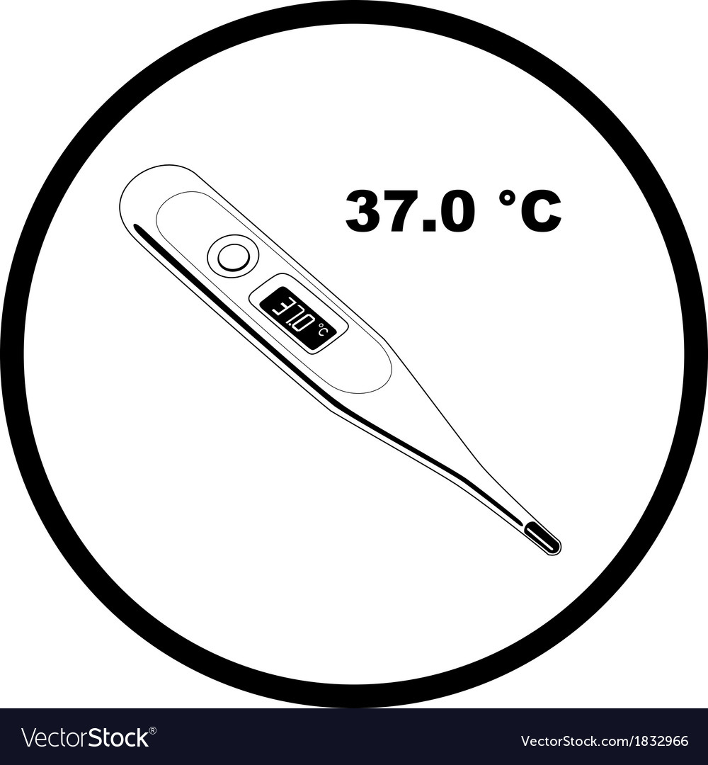 Thermometer37 icon vector image