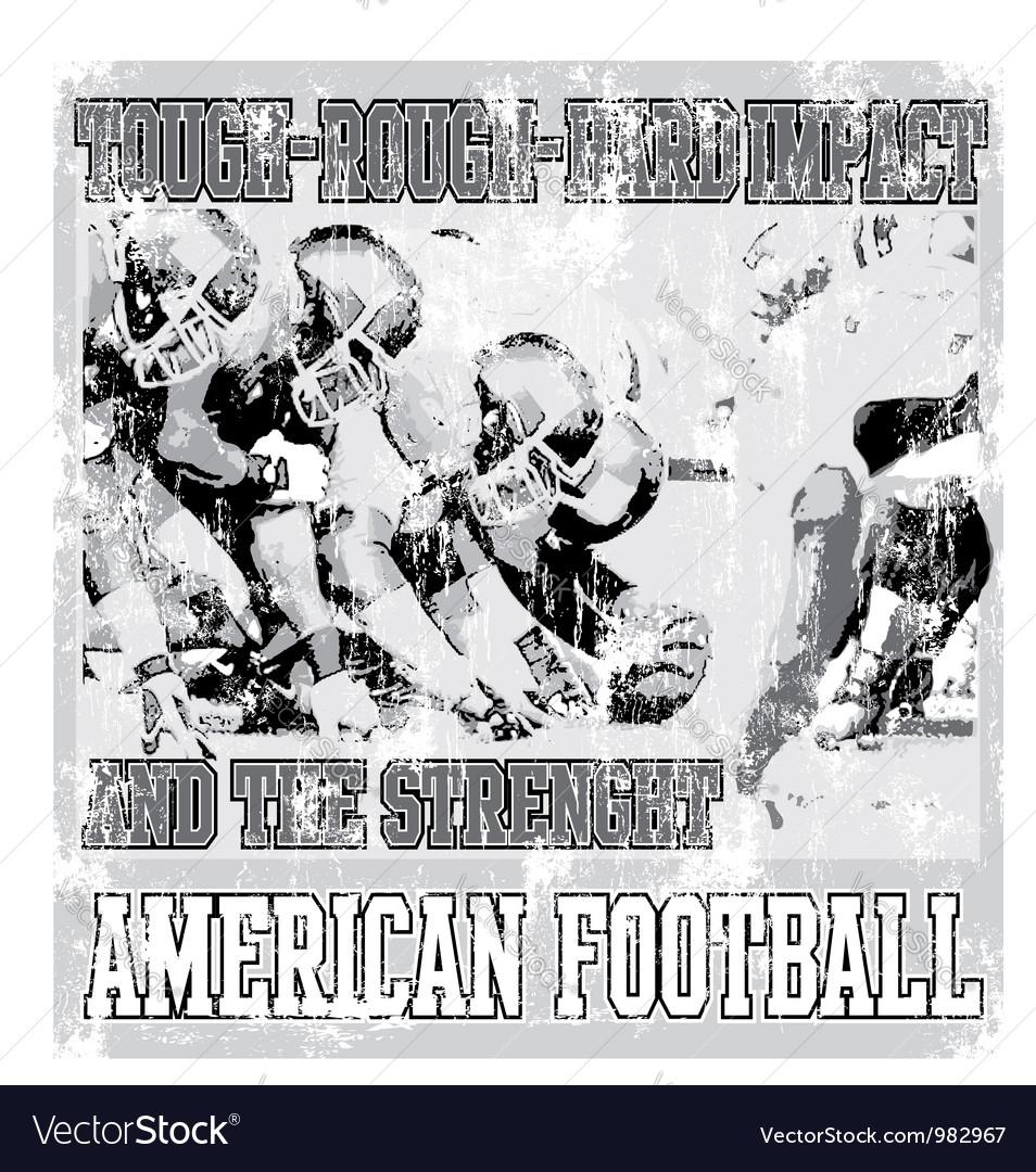 Tough rough american football crack Vector Image