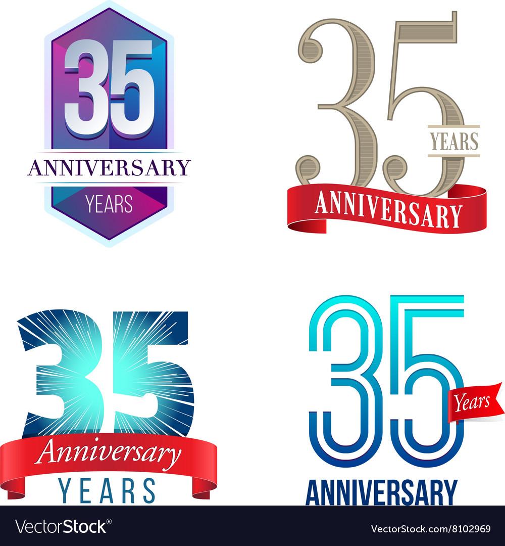 35 Years Anniversary Symbol vector image
