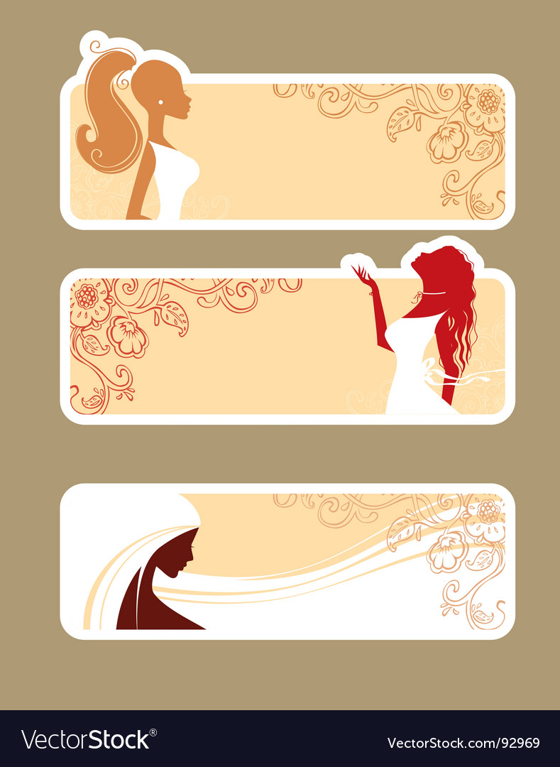 Banners girls vector image