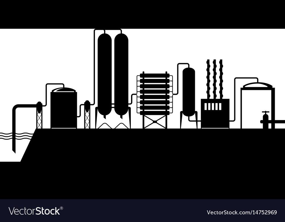 Seawater desalination plant vector image