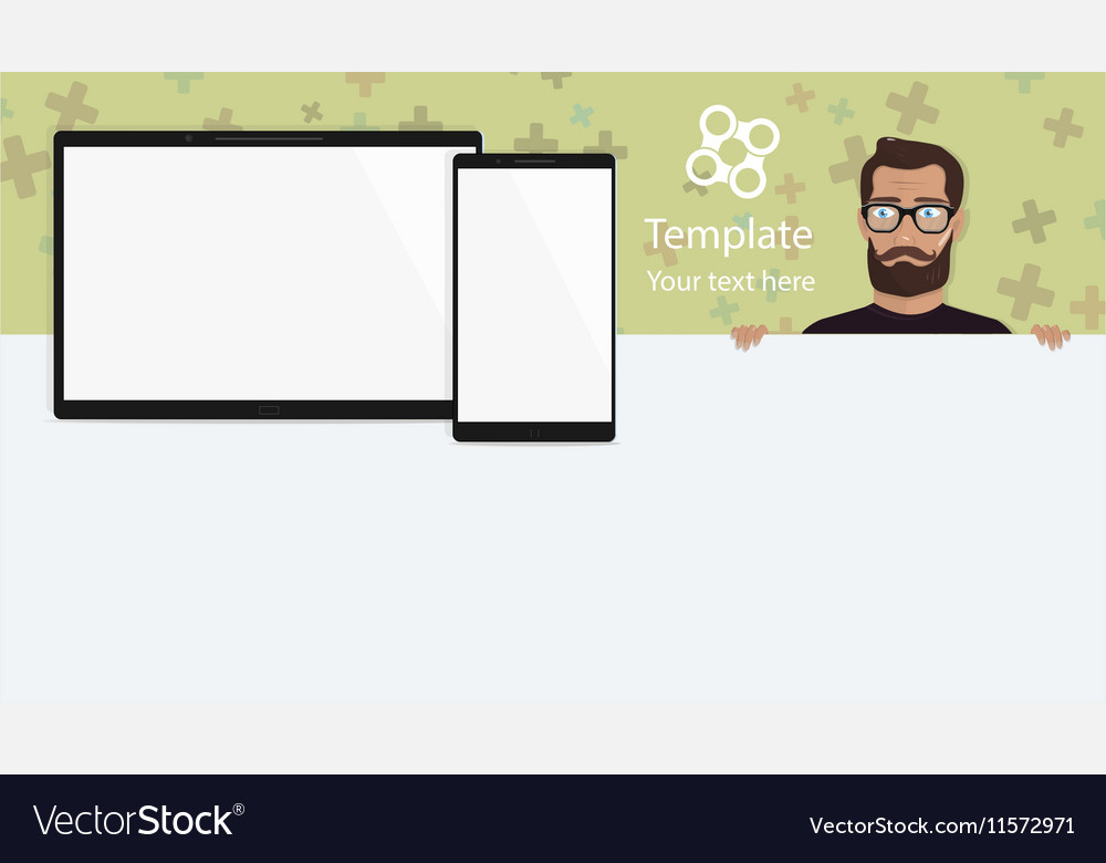 Responsive landing page or one website template vector image