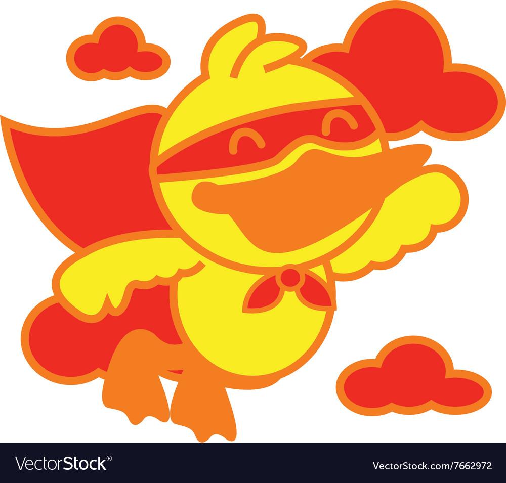 Super Duck vector image