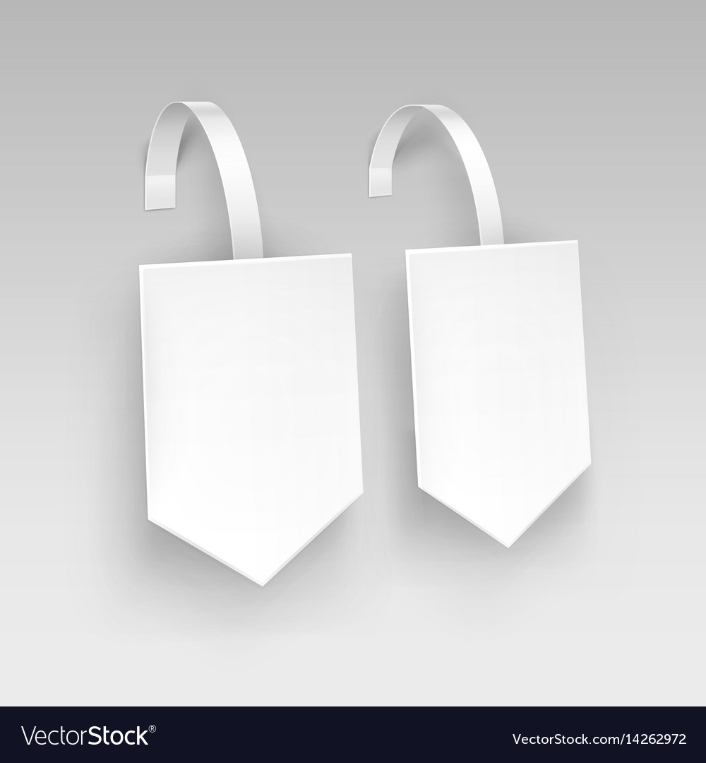 White square arrow paper plastic price wobbler vector image