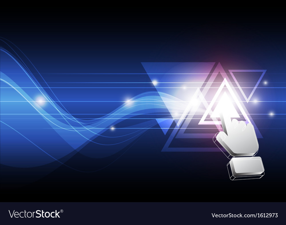 Cursor click triangle button vector image