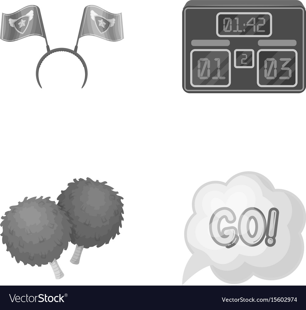 Hoop with flags and other attributes of the fans vector image